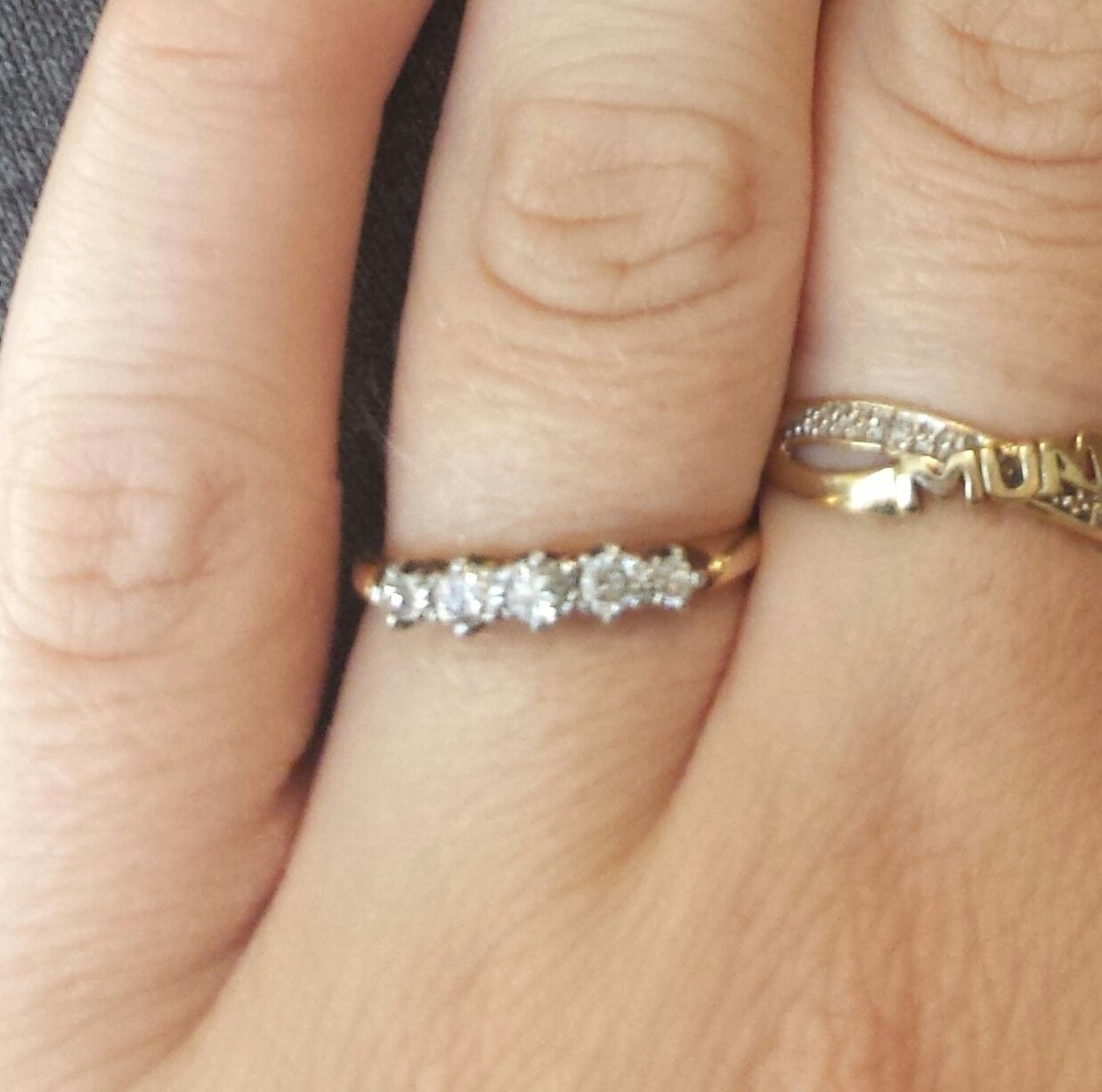 5 diamond gold engagement ring Engagement rings, My