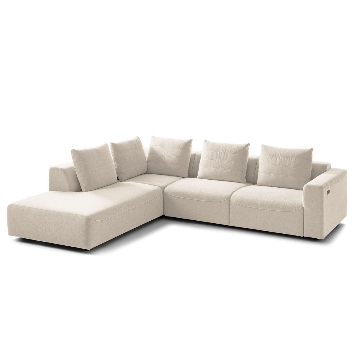 Großartig Sofa Sitztiefenverstellung Dekoration Von Ecksofa Finny Iii Webstoff - Ottomane Davorstehend