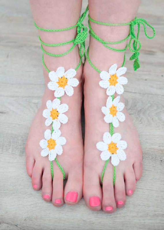Crochet Barefoot Sandals | Crochet barefoot sandals