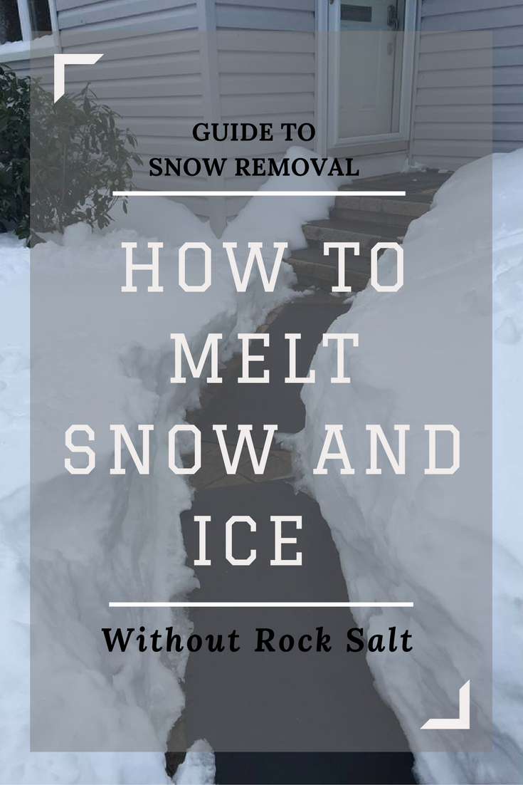 How To Melt Snow And Ice Without Rock Salt Snow Ice Melting Salt Snow