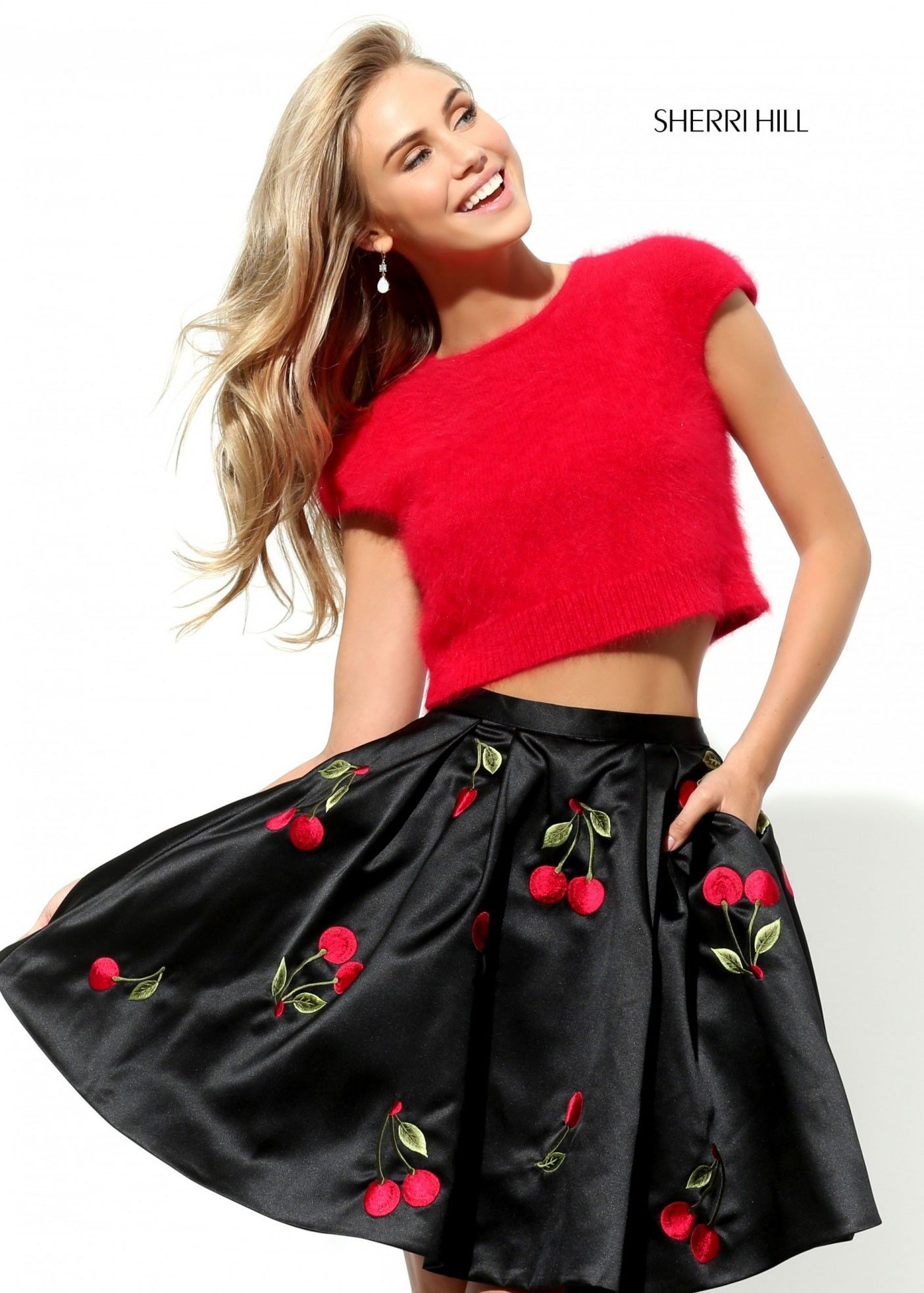 42d29f2f4ab Sherri Hill 50553 Two Piece Cherries Dress