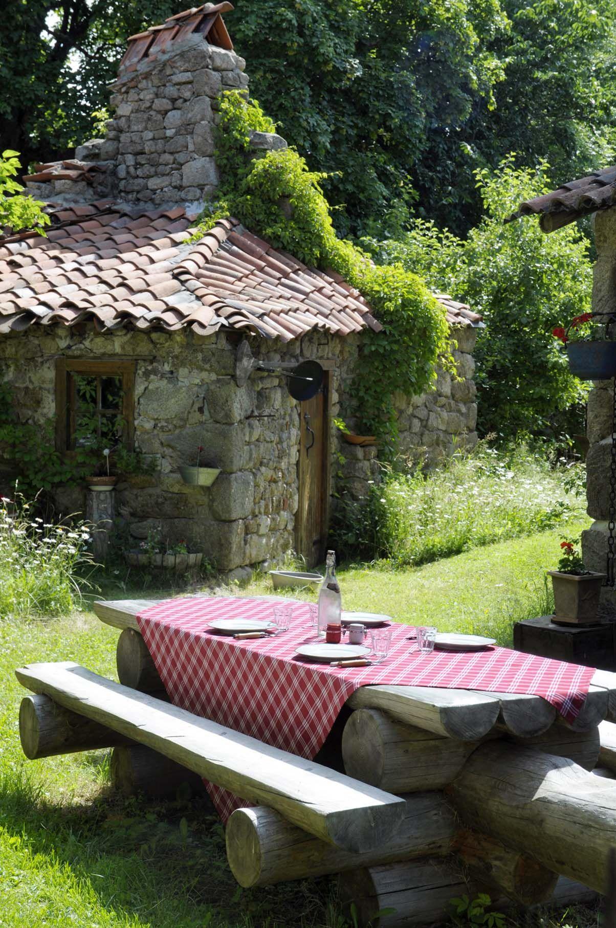 Linge de maison nappe stof laura lancelle paris rustic charm case di campagna vita di - Linge de maison paris ...