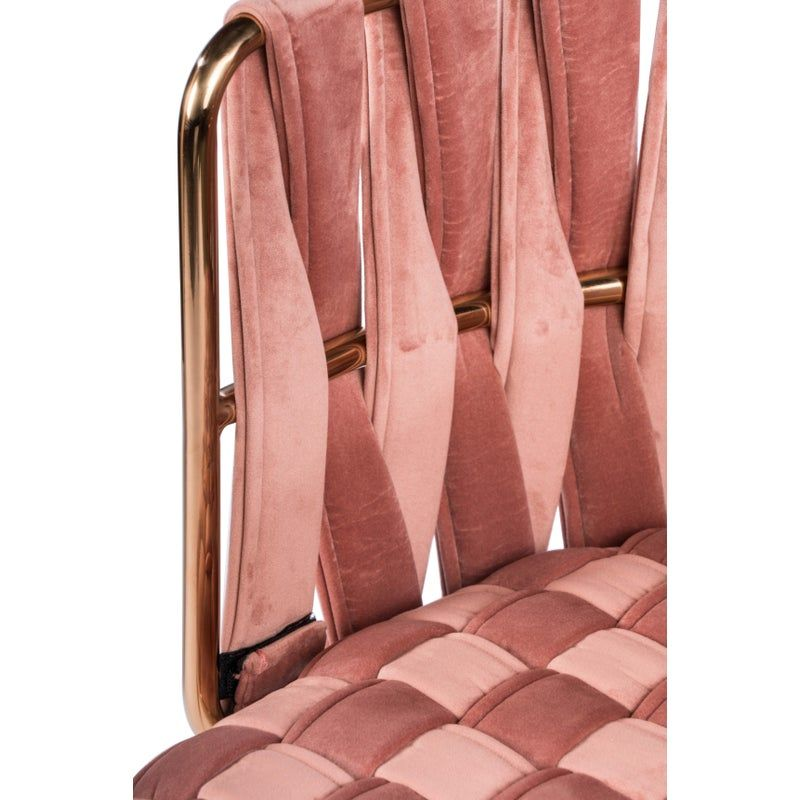 Milano Dining Chair in Rose and Gold   Chairish