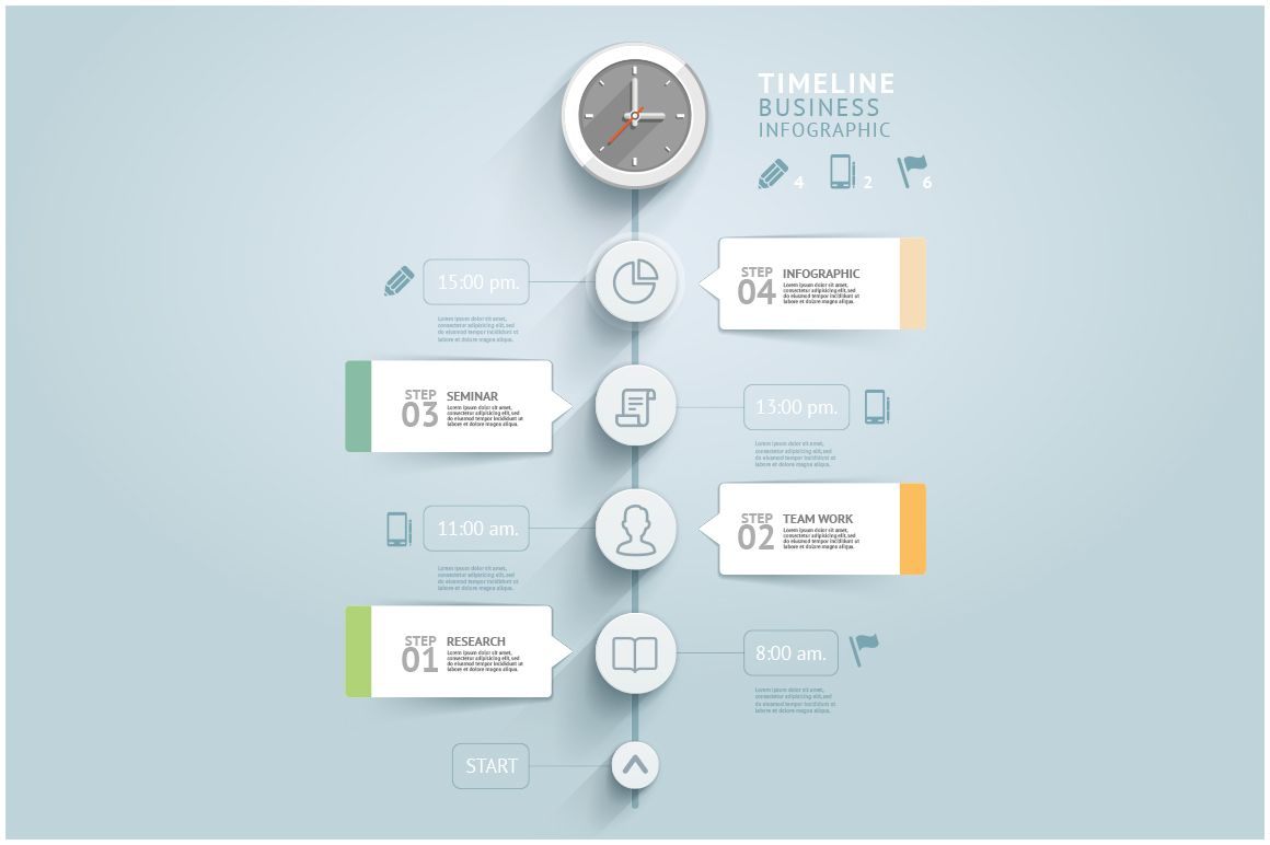 Timeline Infographic Template | Timeline infographic ...
