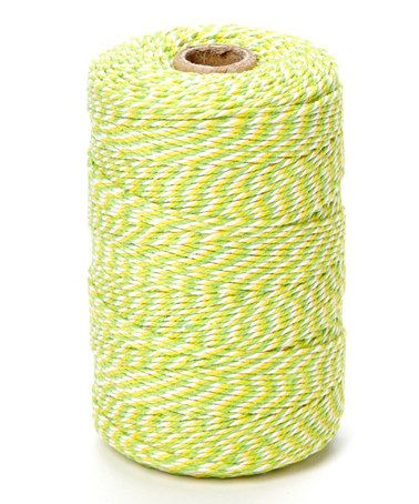Look what I found on #zulily! Yellow & Green Ombré Twine #zulilyfinds