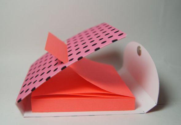 Diy Sticky Pop Up Holder Paper Crafting With Nelda Free Post It