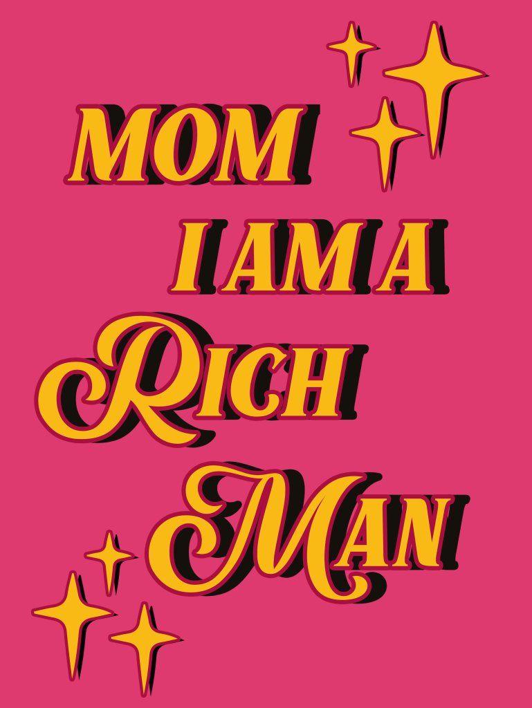 Rich Man - Art Print- 32 x 42
