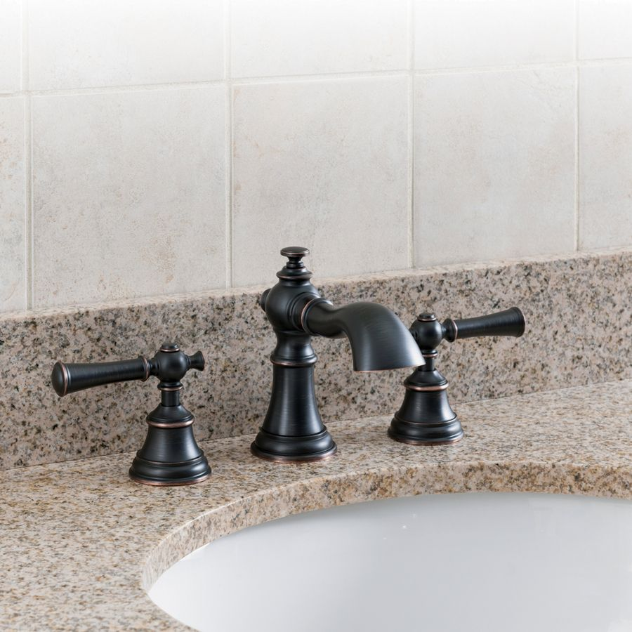 Shop AquaSource Glyndon Oil Rubbed Bronze 2-Handle ...