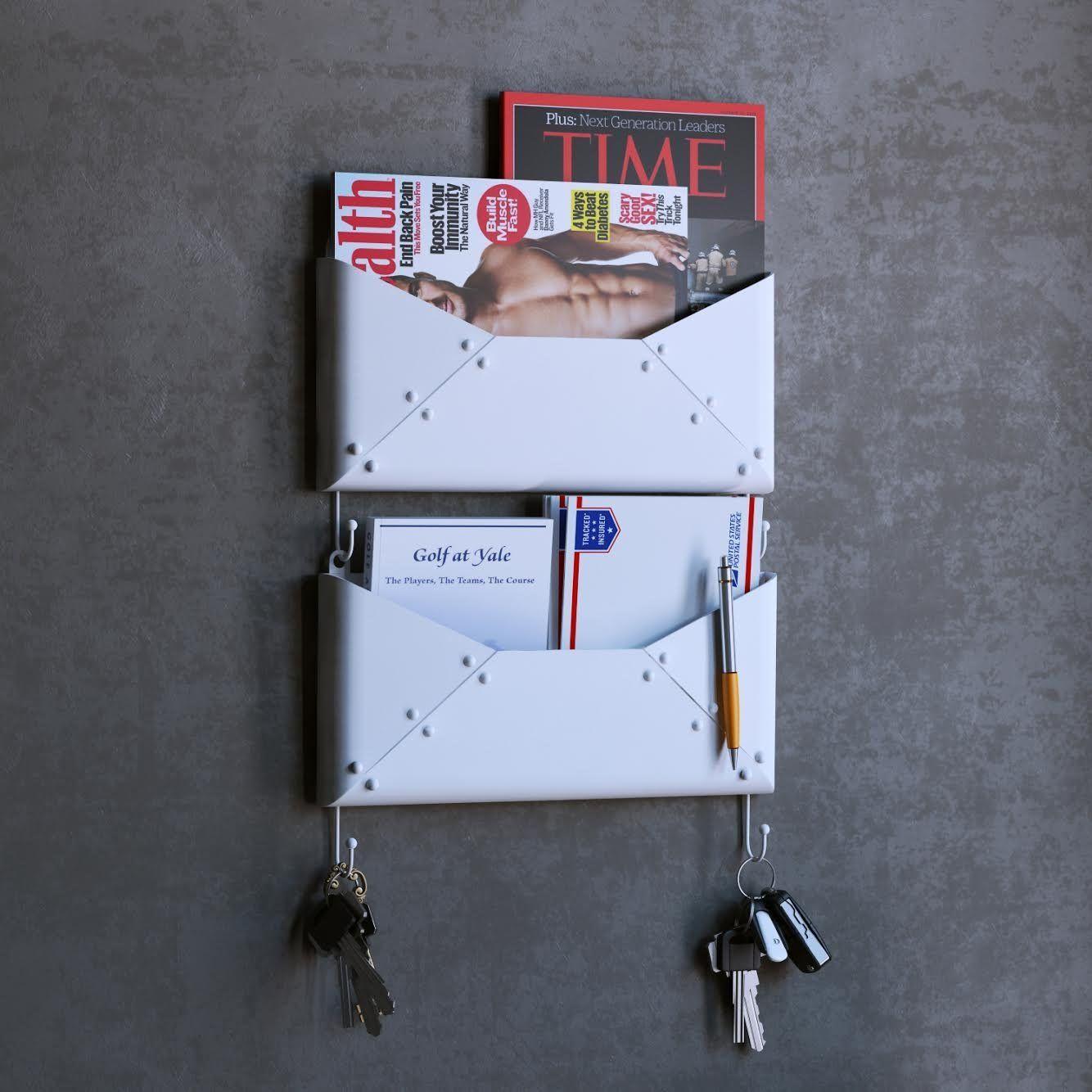 office key holder. Amazon.com: Buroh Wall Mount Foyer Mail Holder Key Hooks Newspaper Magazine Storage Coat Office G