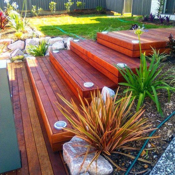 Top 50 Best Wood Stairs Ideas: Top 50 Best Deck Steps Ideas