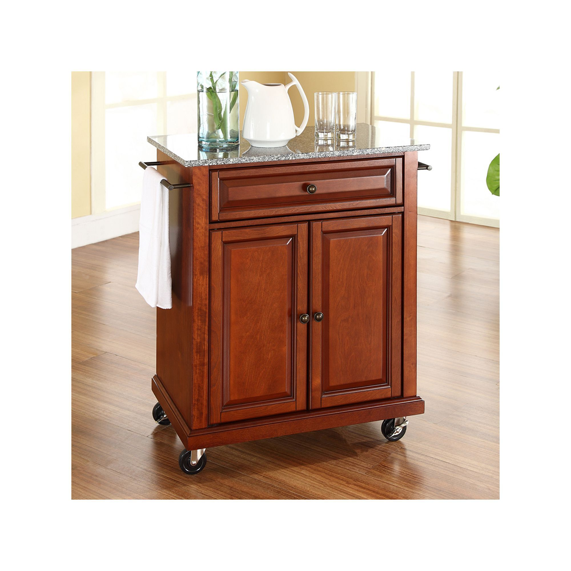 Crosley Furniture Granite Top Kitchen Island Cart, Other Clrs ...