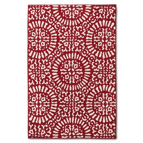 This Red Medallion Kitchen Rug By Target Threshold Will Give Your