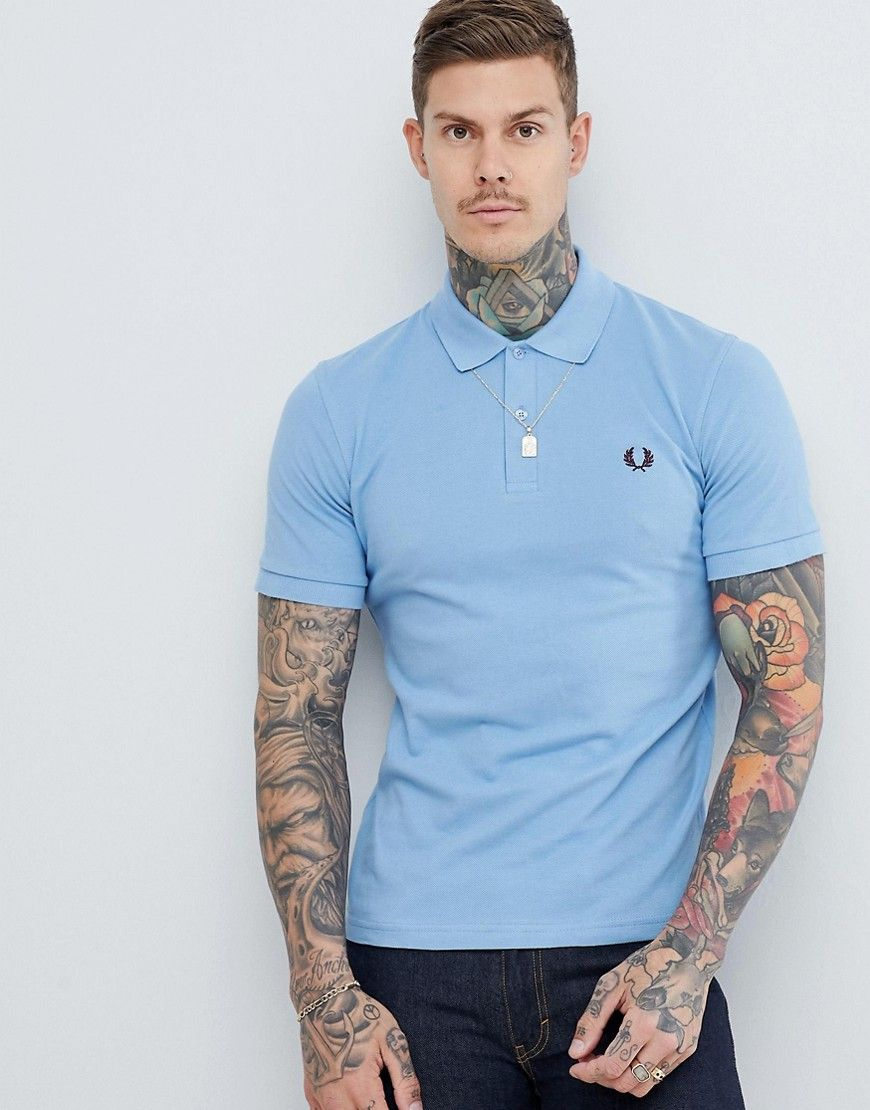 1dd60e25 FRED PERRY REISSUES POLO IN SKY BLUE - BLUE. #fredperry #cloth ...