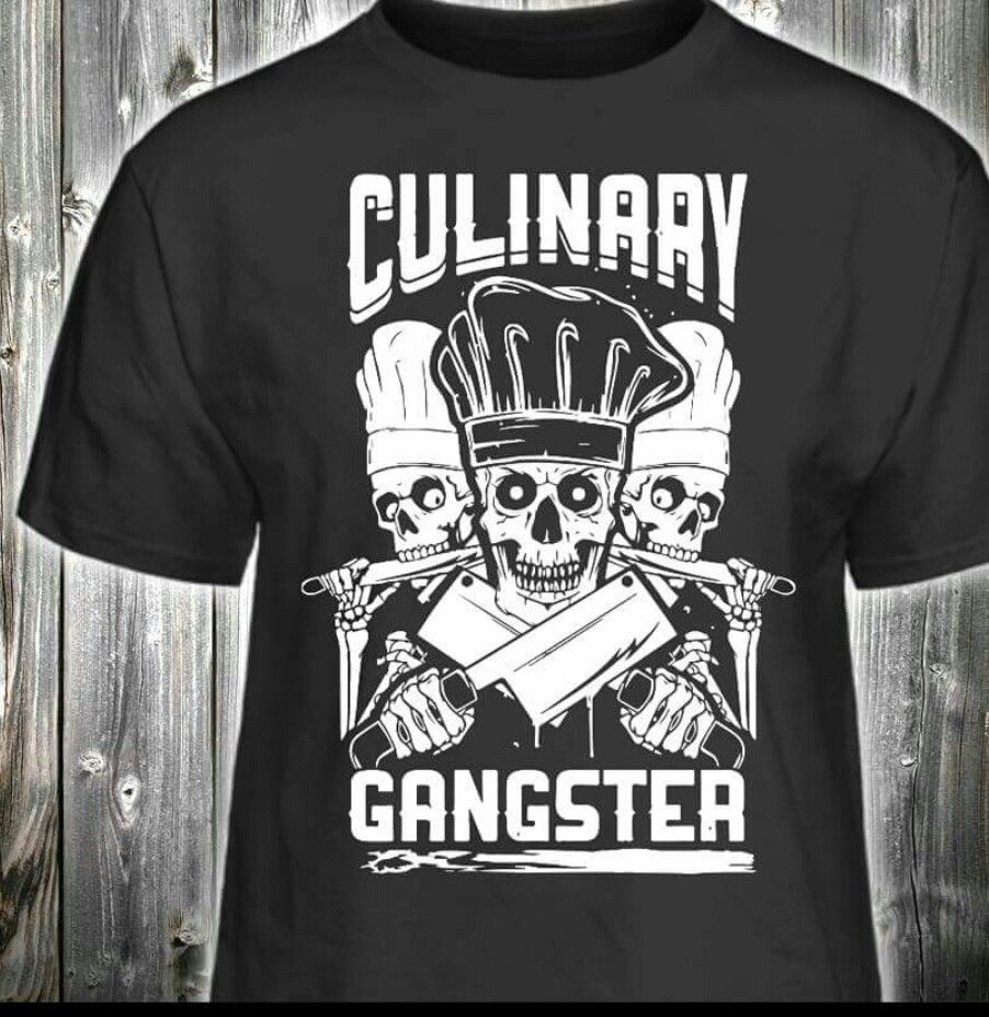 Culinary Gangster Mens Tops Mens Tshirts Mens Graphic Tshirt