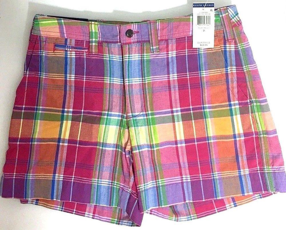 polo plaid shorts