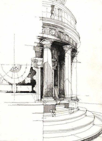 Travel sketchbook kunst pinterest architektur skizze skizzen und malerei - Architektur skizzen zeichnen ...