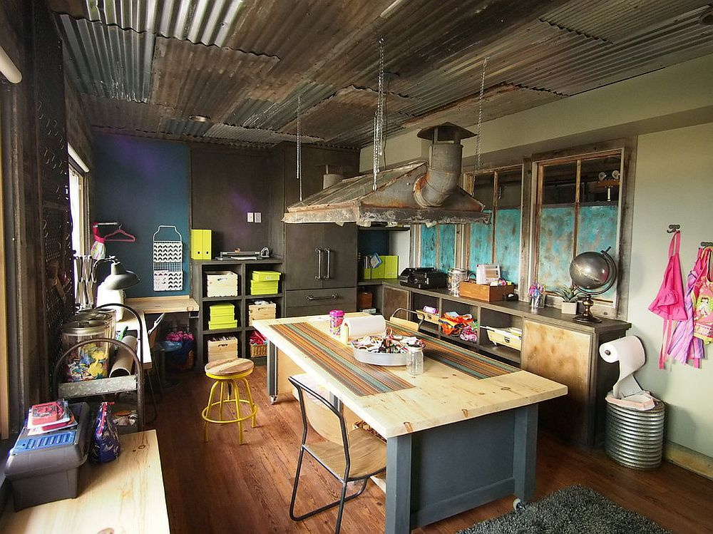 A Workshop Is Perfect For The Industrial Basement Basement