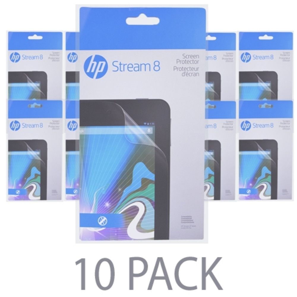 (10-Pack) HP Screen Protector for HP Stream 8 Tablet (model # 57xx) - K1V11AA#ABL - Retail Package