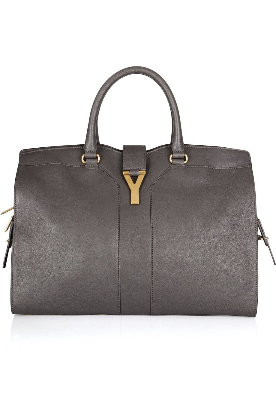 YSL Large Cabas Chyc leather tote via NET-A-PORTER  fashion  ysl  tote  bags   grey. Yves Saint Laurent ... c387b59ad0