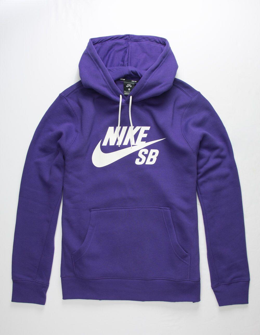 Nike Sb Icon Purple Mens Hoodie Purpl 325147750 Hoodies Men Hoodies Purple Hoodie [ 1286 x 1000 Pixel ]