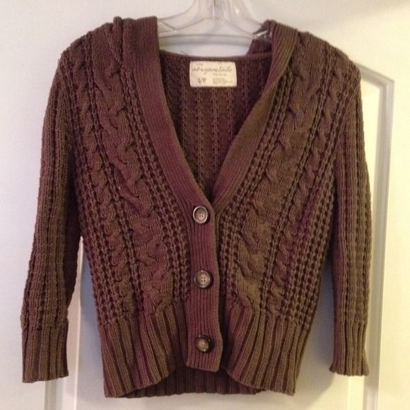 Brown button up sweater Excellent condition. Brown sweater with ...