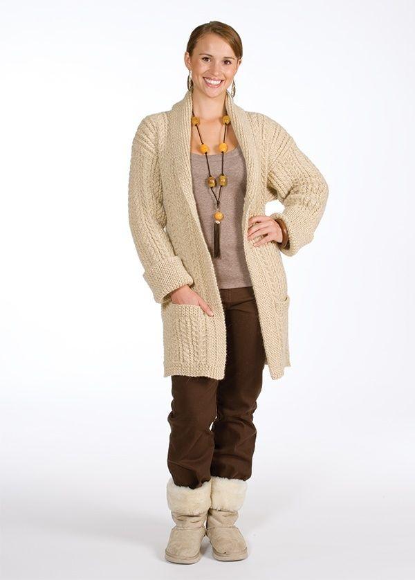 Free Aran Cardigan Knitting Pattern and Kit | Knitting Delights ...