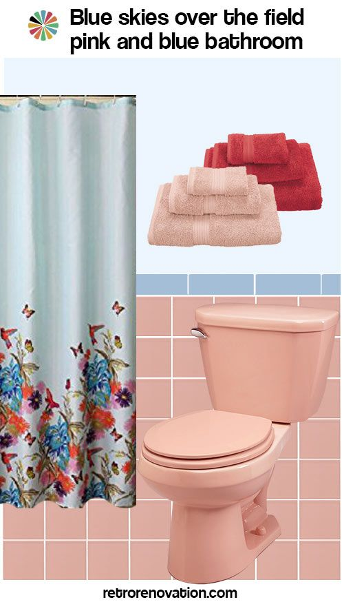 13 Ideas To Decorate A Pink And Blue Tile Bathroom With Images