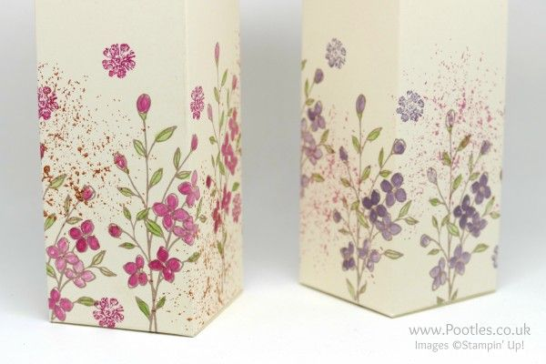 Stampin' Up! Demonstrator Pootles - Hand Decorated Box using Touches of Texture Close Up