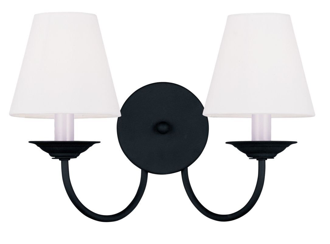 Livex Lighting 5272 Mendham Wall Sconce with 2 Lights Black Indoor Lighting Wall Sconces Up Lighting
