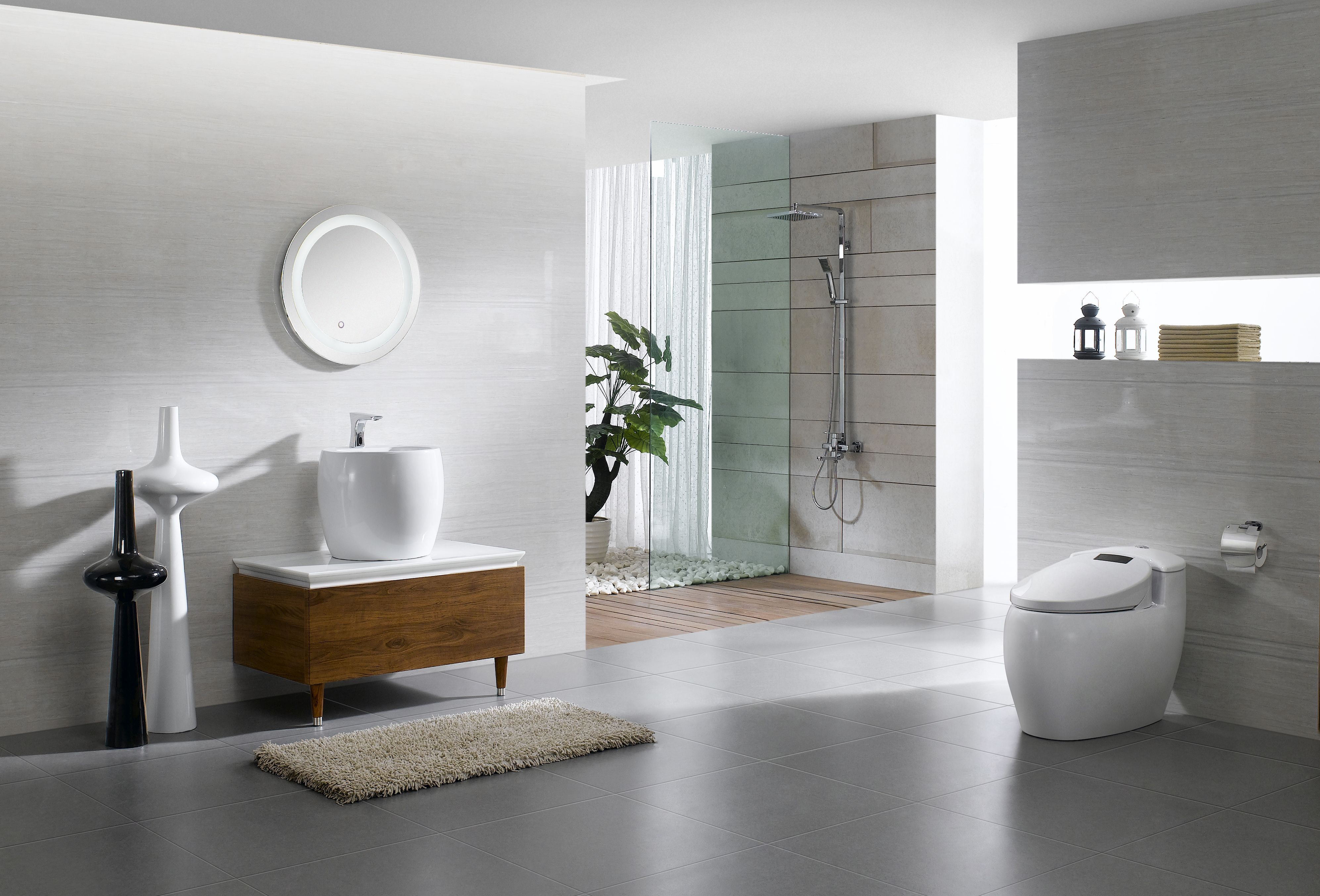 new arrival deo series bathroom cabinet with artistic basin and
