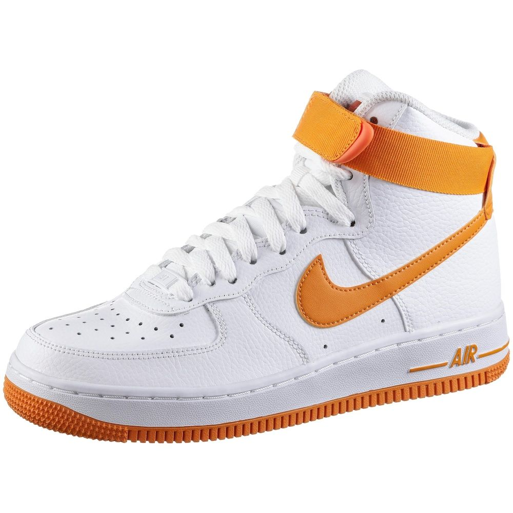 Nike Sportswear Sneaker 'Air Force 1' Damen, Orange / Weiß ...