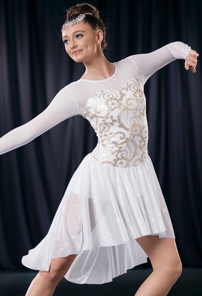 NEW  COMPETITION TWIRLING BALLROOM DANCE DRESS  ICE SKATING BATON  COSTUME #Unbranded #IceSkatingDress