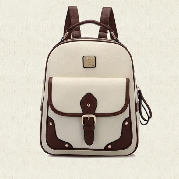 Photo of US $42.7 |2015 Backpack femal hasp solid PU women bag school bags laptop backpack cerrojo del mochila feminina bolsas mochilas femininas|Backpacks|   – AliExpress