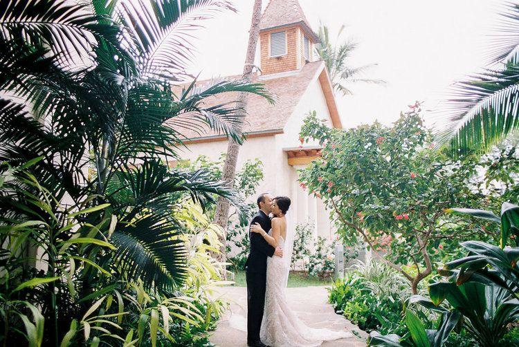 Hawaiian Wedding At Four Seasons Oahu Wedding Chapel With Ashley Goodwin Photography Oahu Wedding Oahu Photographers Hawaiian Wedding