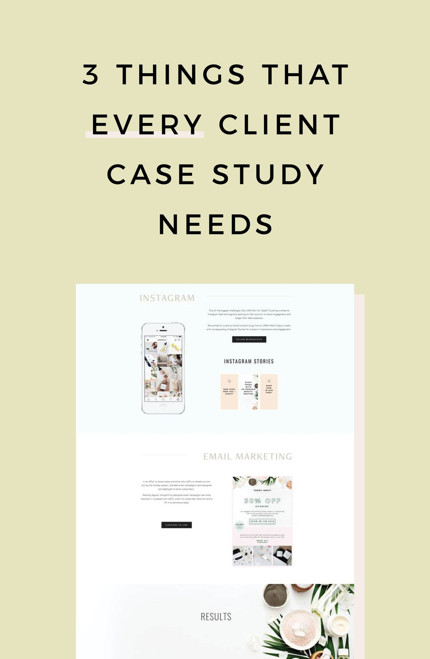 3 Things That Every Client Case Study Needs Case study