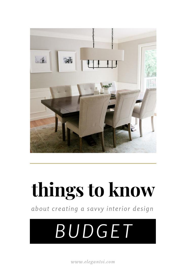 How To Create A Savvy Interior Design Budget Budget Interior Design