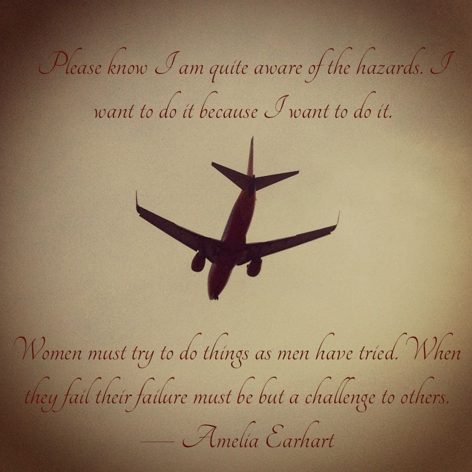 Flying Quotes Simple Flying Quote  Amelia Earhart  Aviation  Pinterest  Flying Quotes