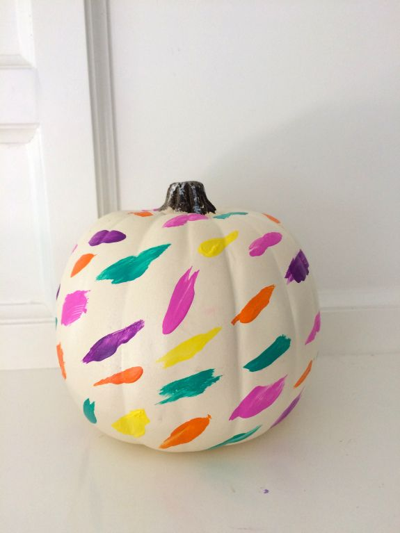 Colorful Pumokins! 4 ways to decorate pumpkins with bright and happy