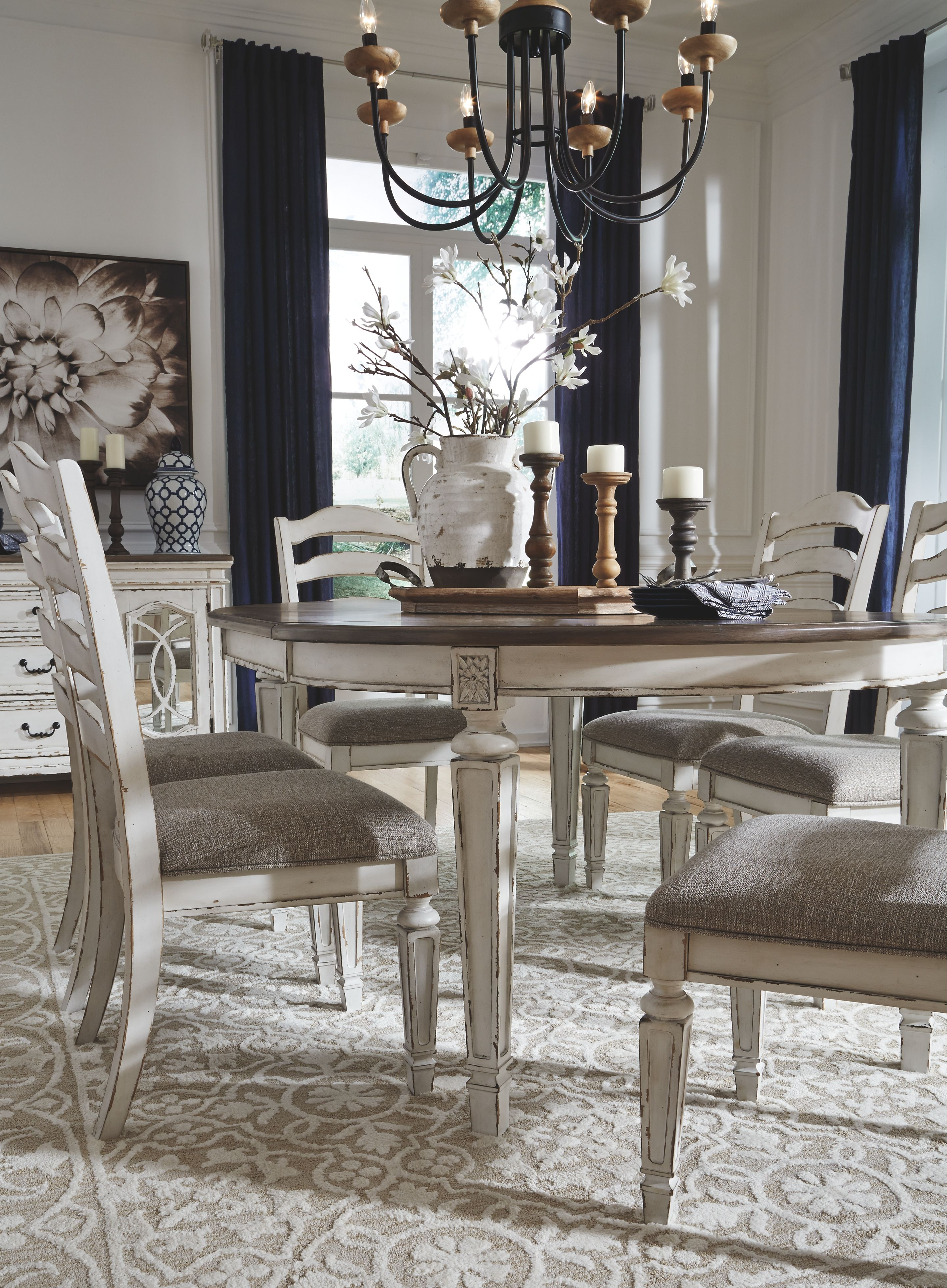 Realyn Dining Chair Ashley Furniture Homestore Country Dining Rooms Rustic Farmhouse Dining Table French Country Dining Room