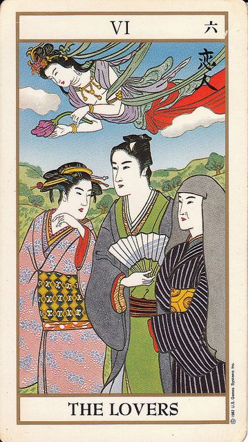 The Lovers - Ukiyoe Tarot