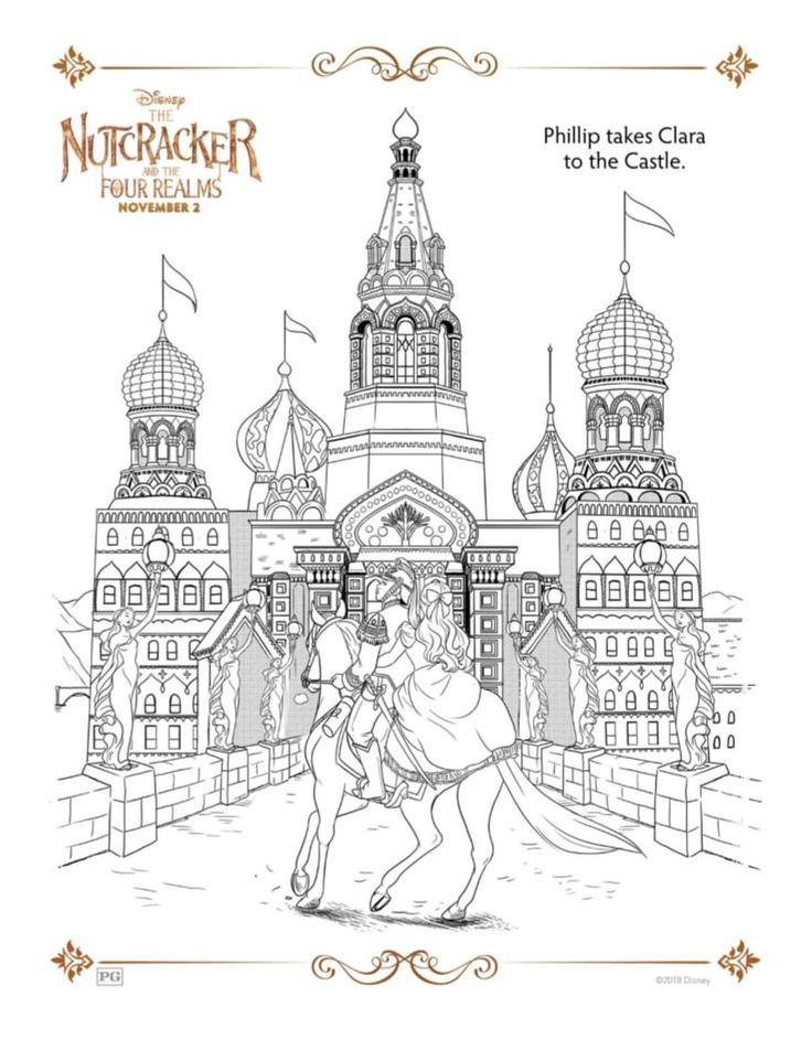 Free Printable Castle Coloring Page - Disney Nutcracker and The Four ...