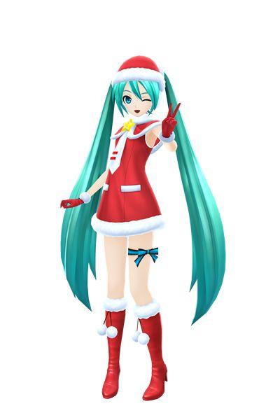 Hatsune Miku Christmas Outfit.Christmas Miku Hatsune Miku Vocaloid Anime Outfits