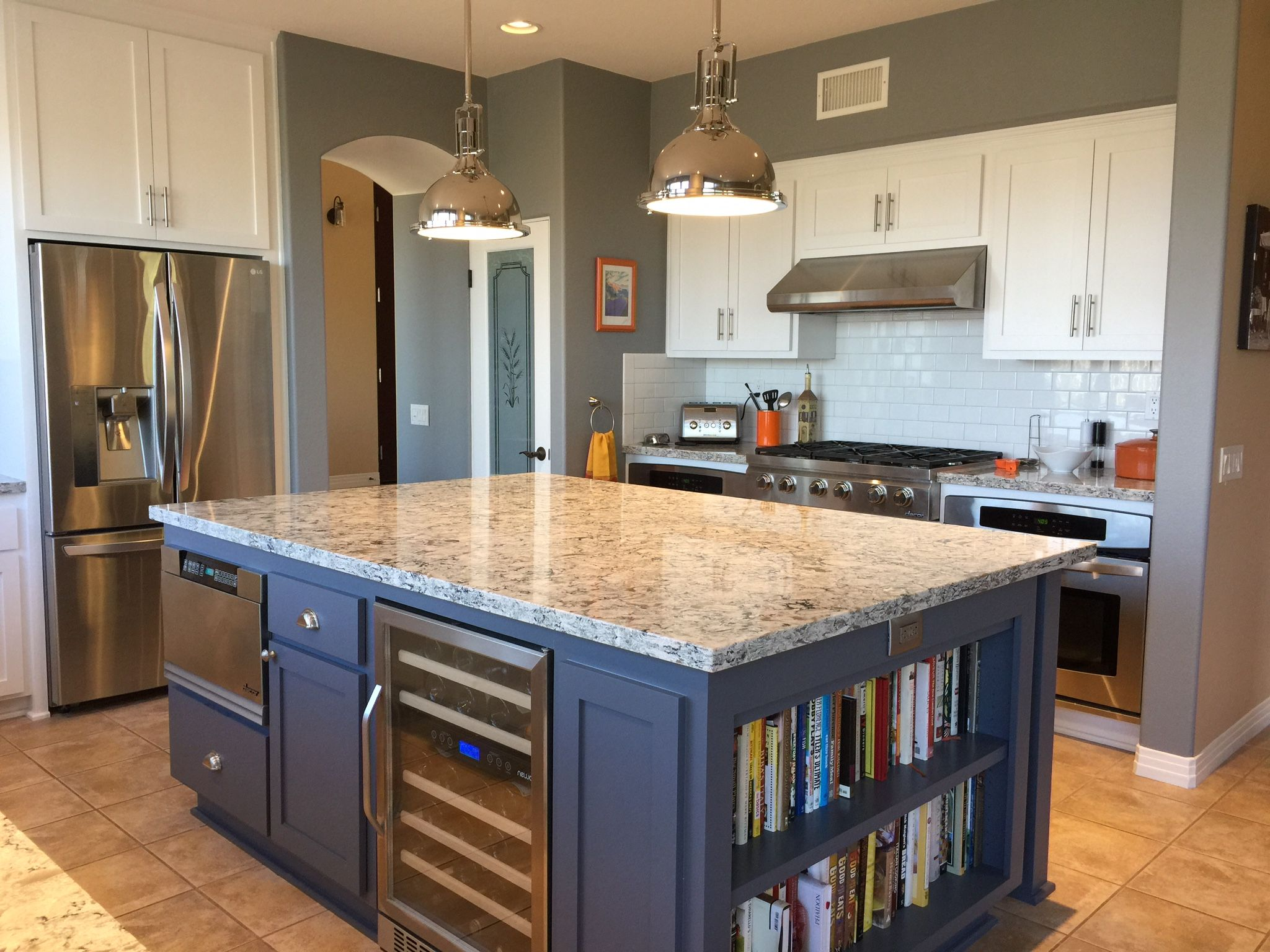 Final kitchen cambria praa sands quartz countertop restoration hardware harmony pendant - Pictures of kitchens with quartz countertops ...