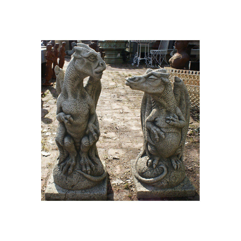Adorable concrete dragons!   Dragon garden, Garden ...