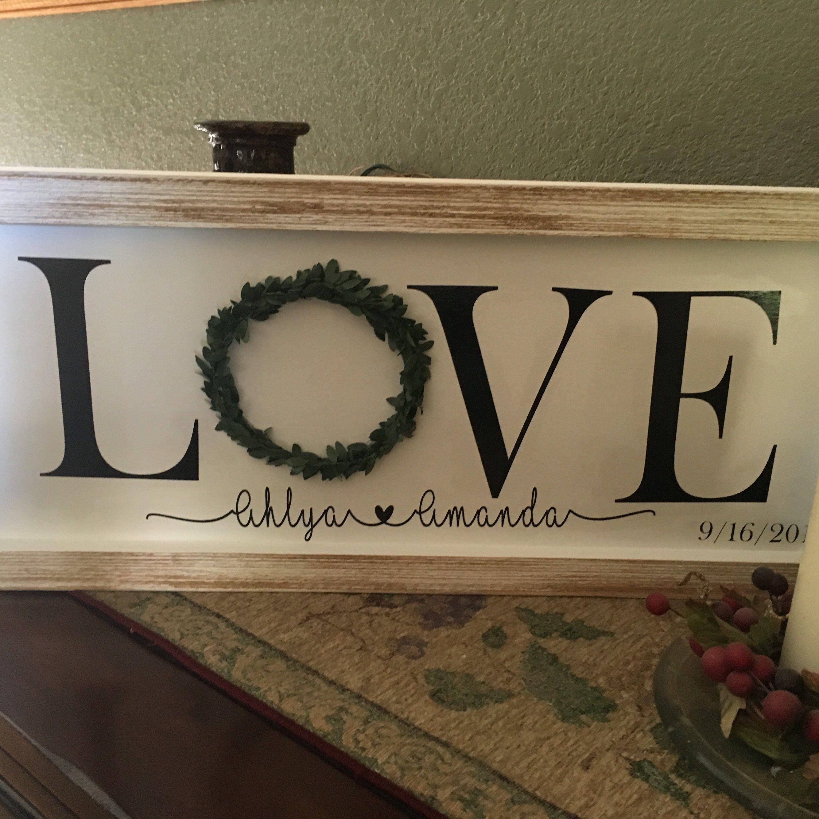 Excited To Share This Item From My Etsy Shop 10x24 Handmade Wooden Frame Love Simply Blessed Sayings Wall Decor Customiz Handmade Wooden Wall Decor Etsy