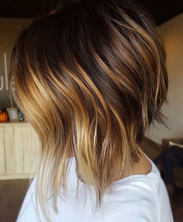 Best 25+ Short Hairstyles With Highlights Ideas On