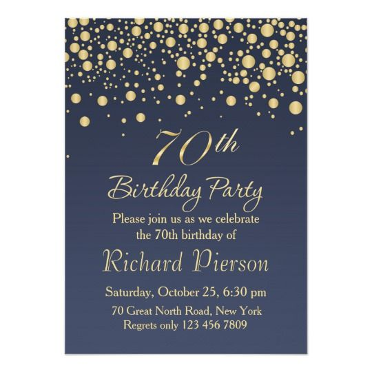 Download 70th Birthday Invitation Designs