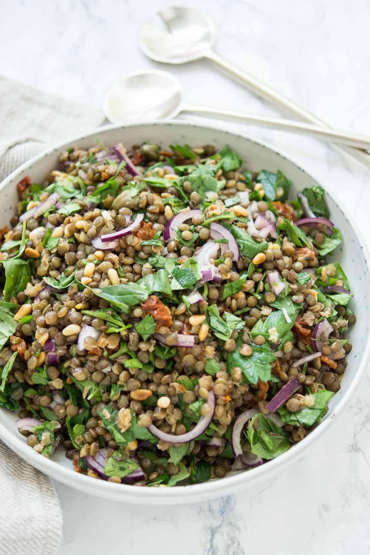 Photo of Mediterranean lentil salad recipe Elle Republic | Cook healthy