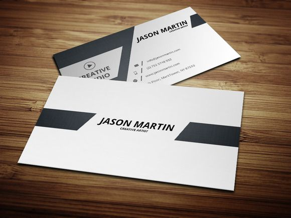 Dual Back Side Business Card Business Cards Creative Templates Business Card Template Design Minimal Business Card