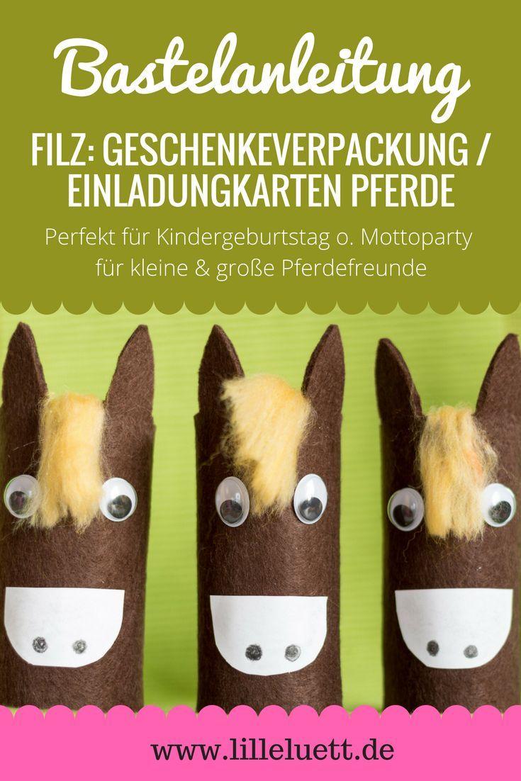 Geschenkeverpackung / Einladungskarten Pferde Selber Basteln | Pinterest | Einladungskarten  Basteln, Einladung Geburtstag Und Toilettenpapierrollen